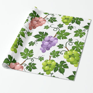 Gentle Grapes and Grapevines Wrapping Paper