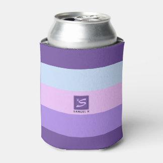 Gentle Lavender Dreams Color Palette Monogram Can Cooler
