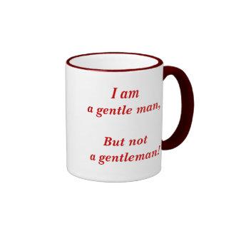 Gentle man vs gentleman (right handed) ringer coffee mug
