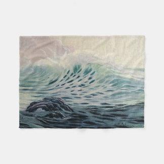 Gentle ocean waves fleece blanket