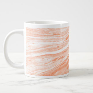 Gentle Orange Marble Stone Large Coffee Mug
