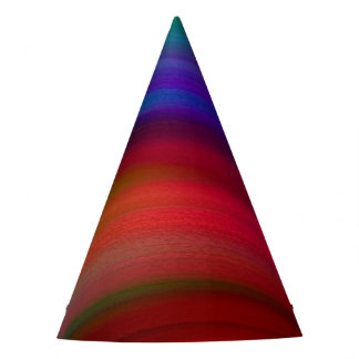 Gentle Rainbow Waves Abstract Party Hat