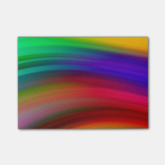 Gentle Rainbow Waves Abstract Post-it Notes