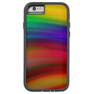 Gentle Rainbow Waves Abstract Tough Xtreme iPhone 6 Case