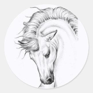 Gentle Stallion Classic Round Sticker