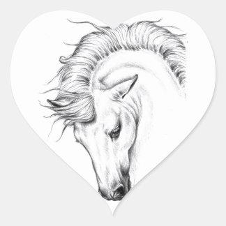 Gentle Stallion Heart Sticker