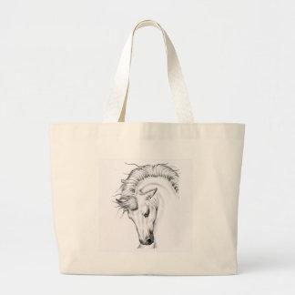 Gentle Stallion Large Tote Bag