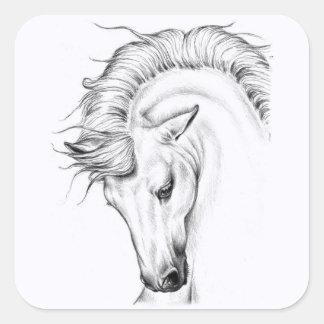 Gentle Stallion Square Sticker