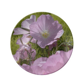 Gentle summer pink flowers photography Plate Porcelain Plates