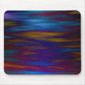 Gentle Waters in Blue and Colorful Reflections Mouse Pad