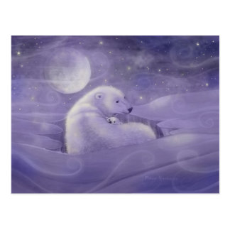 Gentle Winter Polar Bear Postcard