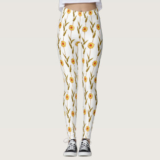 Gentle Yellow Daisies Leggings