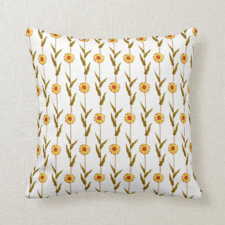 Gentle Yellow Daisies Throw Pillow