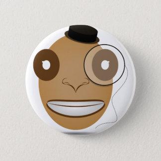 Gentleman 6 Cm Round Badge