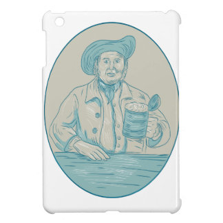 Gentleman Beer Drinker Tankard Oval Drawing Case For The iPad Mini