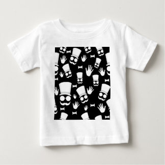 Gentleman - black and white pattern baby T-Shirt