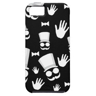 Gentleman - black and white pattern iPhone 5 case