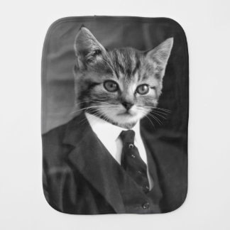 Gentleman Cat #1 Burp Cloth