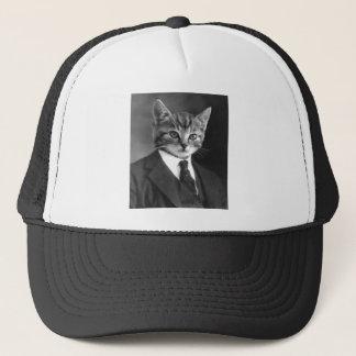 Gentleman Cat Trucker Hat