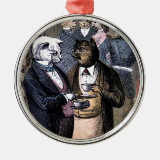Gentleman Cats at Miss Pussy Cat's Tea Party. Christmas Tree Ornaments