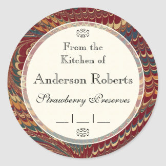 Gentleman Chef's Elegant Marble Canning Labels
