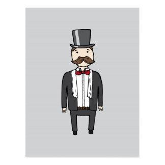 Gentleman in suit postcard