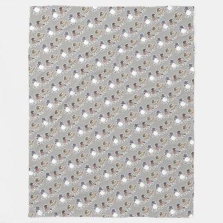 Gentleman Java sparrows (L) Fleece Blanket