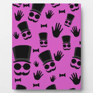 Gentleman - magenta pattern display plaques