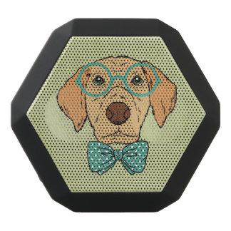 Gentleman Puppy with a Cute Bowtie. Black Bluetooth Speaker