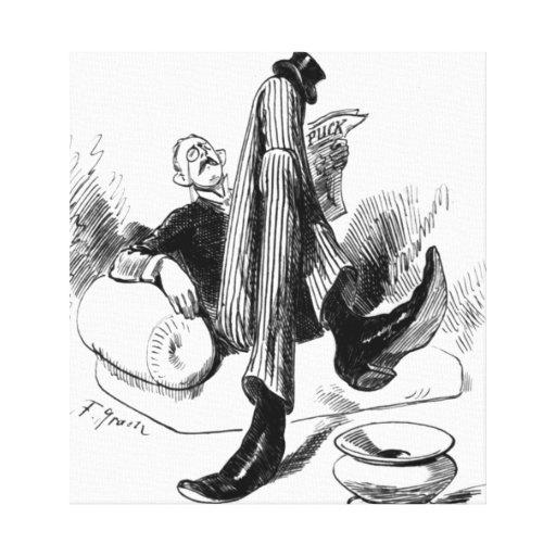Gentleman Reading 1880 Canvas Print