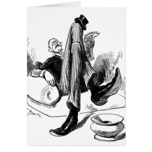 Gentleman Reading 1880 Card
