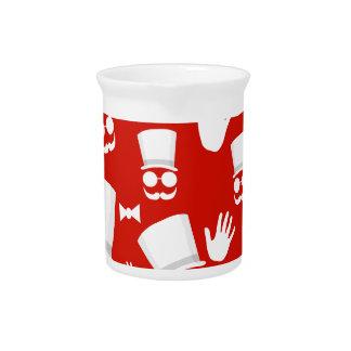 Gentleman - red pattern pitcher