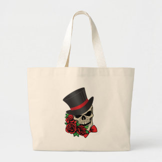 Gentleman Skull Large Tote Bag