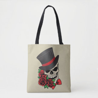 Gentleman Skull Tote Bag