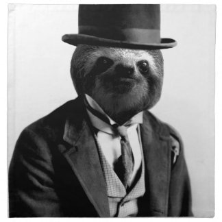 Gentleman Sloth #2 Napkin