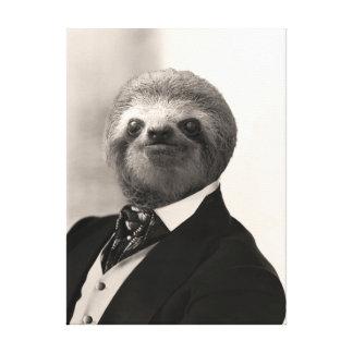 Gentleman Sloth #4 Canvas Print