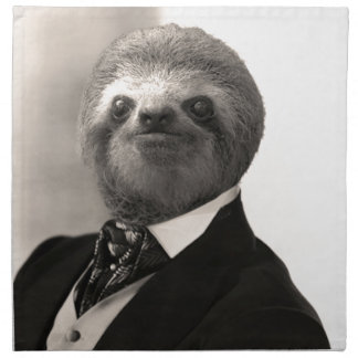 Gentleman Sloth #4 Napkin