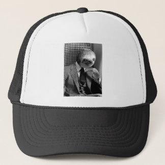 Gentleman Sloth sitting in Fancy Chair Trucker Hat