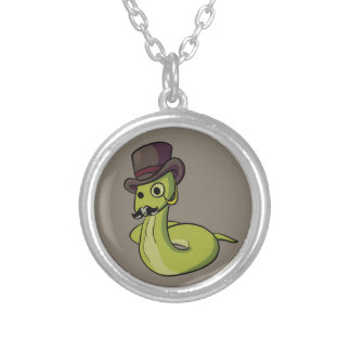 Gentleman Snake! Silver Plated Necklace
