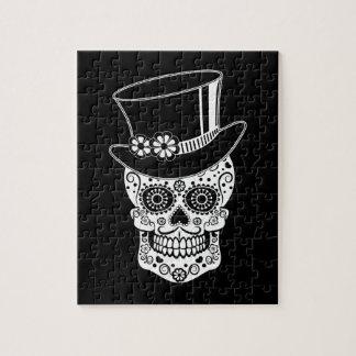 Gentleman Sugar Skull-01 Jigsaw Puzzle