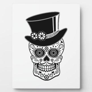Gentleman Sugar Skull-01 Photo Plaque