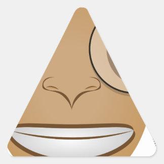 Gentleman Triangle Sticker
