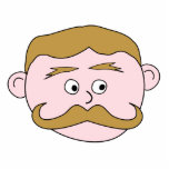 Gentleman with Moustache. Photo Cut Out
