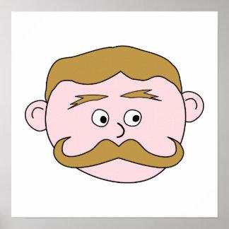 Gentleman with Mustache. Poster