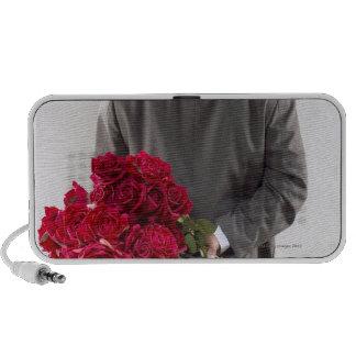 Gentleman with red roses notebook speakers
