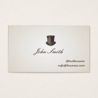 Gentleman's Top Hat Calling Card business card