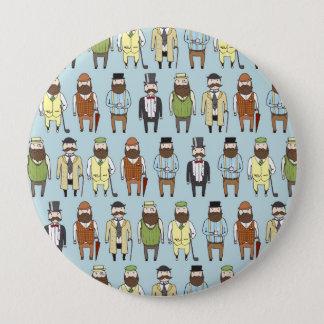 Gentlemen 10 Cm Round Badge