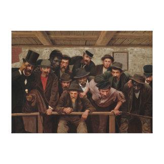 Gentlemen Watching a Cockfight by Horace Bonham Canvas Print