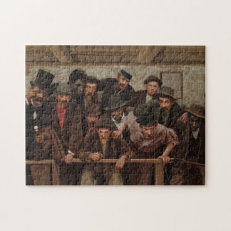 Gentlemen Watching a Cockfight by Horace Bonham Jigsaw Puzzle