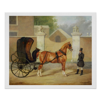 Gentlemen's Carriages: A Cabriolet, c.1820-30 (oil Poster